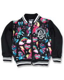 Six Bunnies Black Unicorn Jacket
