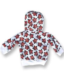 Six Bunnies Roses Baby Hoodie