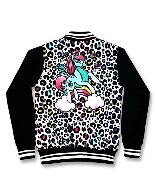 Six Bunnies Unicorn Candy Girls Tattoo Rockabilly Jacket - back
