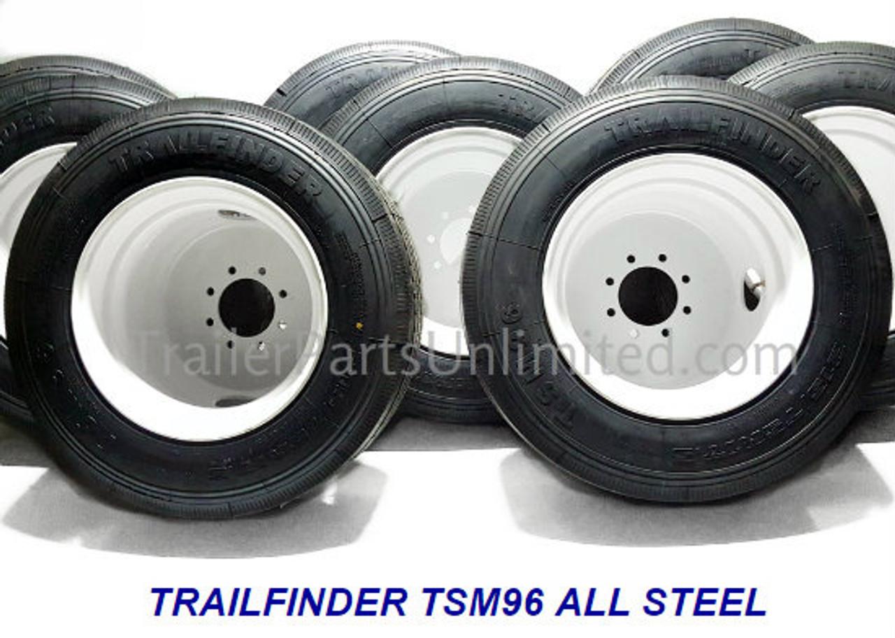 """17.5"""" 16-ply Heavy Duty Tire and Wheel Combo"""