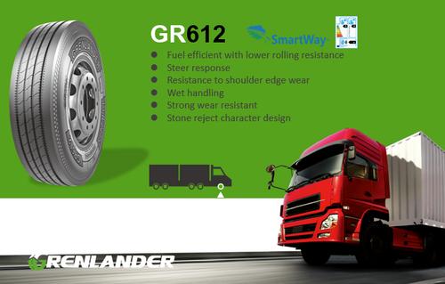 11R22.5 14-Ply Grenlander GR612 Regional Steer Truck Tire
