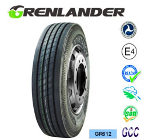 """Grenlander GR612 Steer Tire. 22.5"""" Commercial truck tire"""