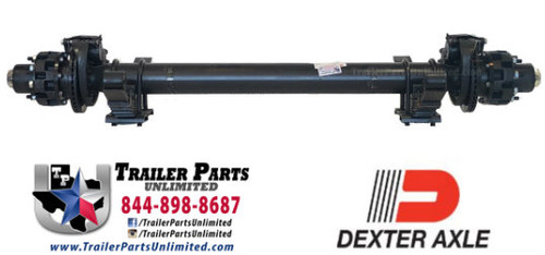 Dexter 12,000 lb hydraulic disc brake trailer axle fully assembled with springs.