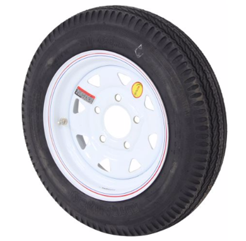 """12"""" trailer tire and wheel mounted"""