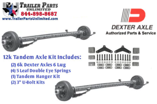 12k Dexter Tandem Axle Trailer Kit Both with Electric Brakes