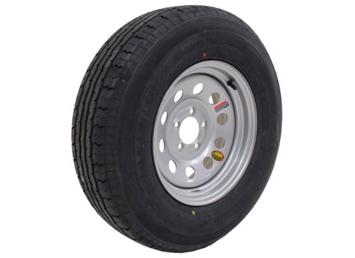ST225/75R15 10-Ply Contender Radial Tire on Silver Mod Wheel 5x4.5""