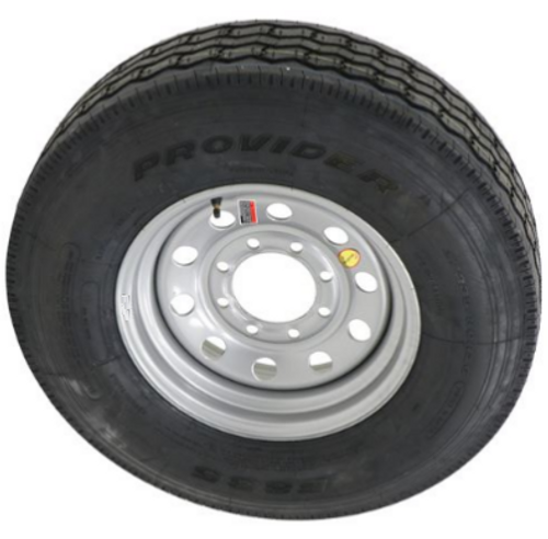 """ST235/85R16 14-Ply Provider All Steel Tire on Silver Mod Wheel 8x6.5"""""""