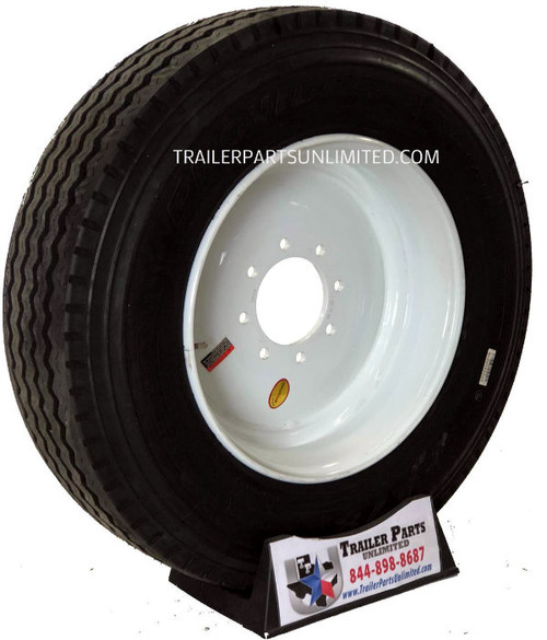 235/75R17.5 18-Ply Provider All Steel Tire on White Solid Wheel 8x6.5""