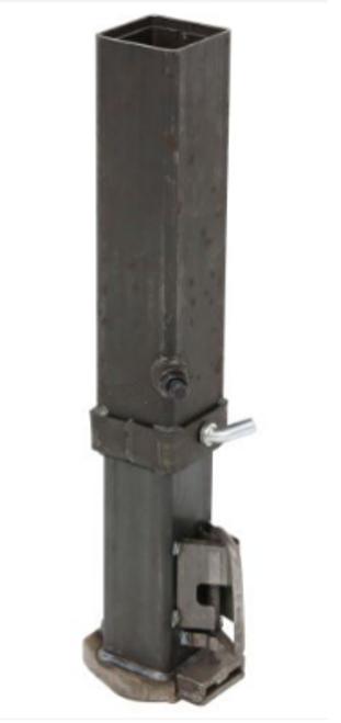 "Square Adjustable Gooseneck Coupler 25k Cap. 2-5/16"" Ball"