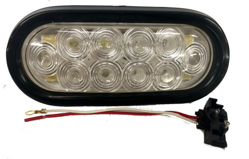 "6"" oval led backup lights w/ Rubber Grommet & 3 Prong Plug 10 LED"