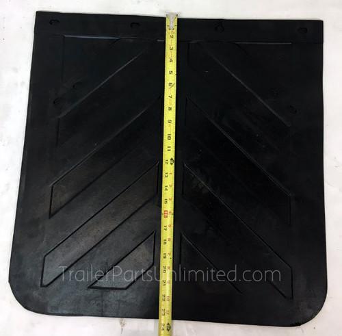 "24"" x 24"" 1/4"" Thick Standard Mudflap Chevron Style"