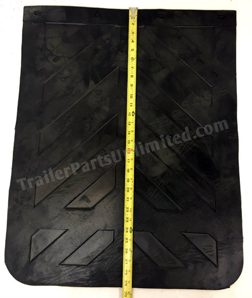 "24"" x 30"" 1/4"" Thick Standard Mudflap Chevron Style"