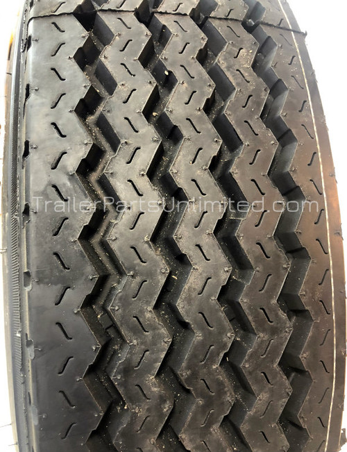 "A235J/8H19. Heavy duty 17.5"" 18-ply tire"