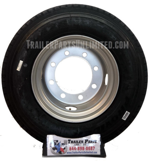 """235/75R17.5 18-Ply Provider All Steel Tire on Silver Dual Wheel 8x10.83"""""""
