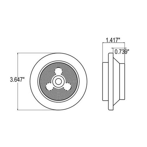 """2 1/2 """"  SEALED LAMP 3 LED KIT , RED LIGHT, 12/24 VOLT. 8014R12/24, 8014R, 8014R-RTE12/24"""