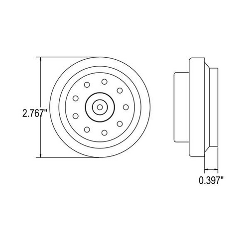 "2"" Round Red 9 LED Marker Light w/ Rubber Grommet 2 Prong Plug"