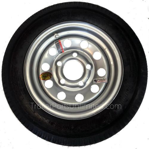"4.80-12 6-Ply Taskmaster Bias Tire on Silver Mod Wheel 5x4.5"""