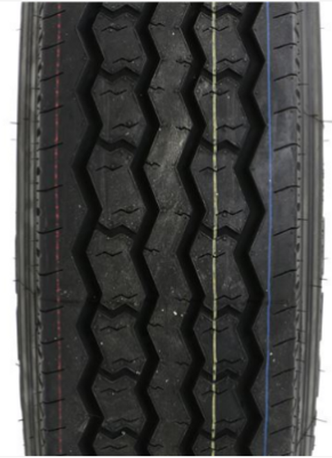 """ST235/85R16 14-Ply Provider All Steel Tire on Silver Hub Piloted Dual Wheel 8x6.5"""""""