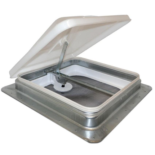 """14"""" x 14"""" Galvanized Steel Crank up Roof Vent. (Garnish Not Included)"""