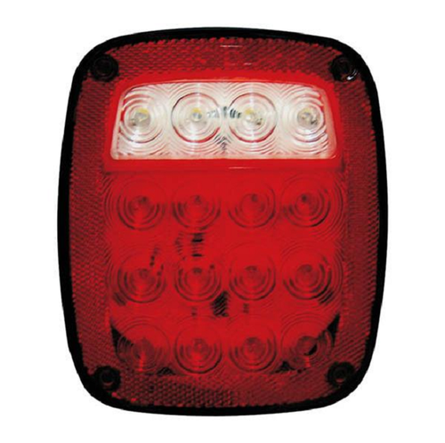 "7"" x 4"" Rectangular Red 16 LED Stop, Turn, Tail Light w/ Reflector"