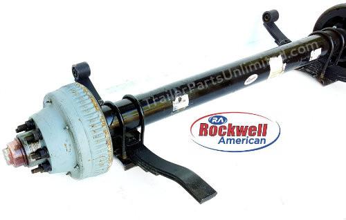Rockwell American 10,000 lb Electric Brake Trailer Axle.
