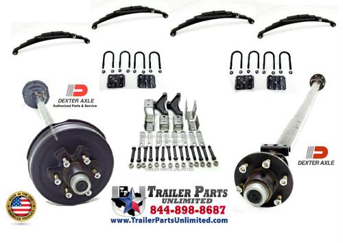 Dexter 10.4k Tandem Axle Set, 1 Brake, 1 Idler Axle 6 Lug