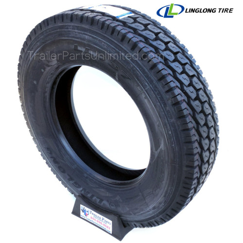 """low pro 24.5"""" drive tire. 24.5"""" Commercial Truck tire. 285/75R24.5 14-ply linglong D3 Drive Tire"""