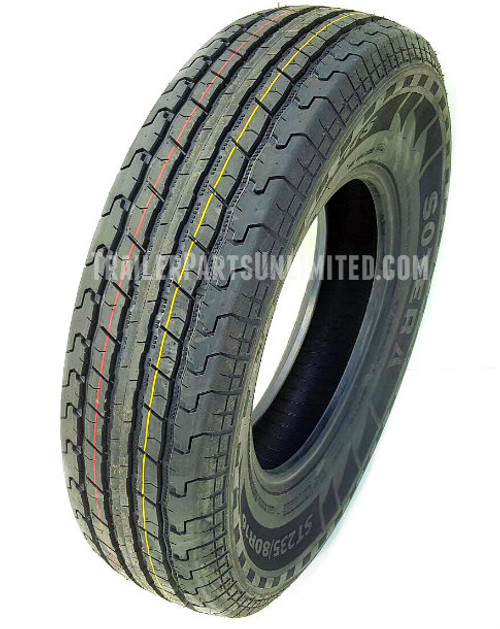 "16"" ST235/80R16 10-ply Sotera Radial Trailer Tire"