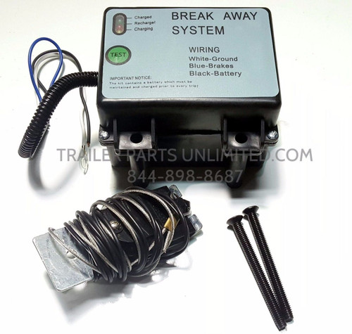 Trailer Break A Way Kit With Charger, Test Light and Bolts. DOT Approved