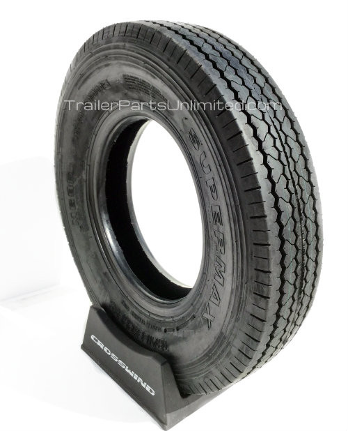"15"" ST205/90D15 10-Ply Supermax Bias Trailer Tire (700-15)"