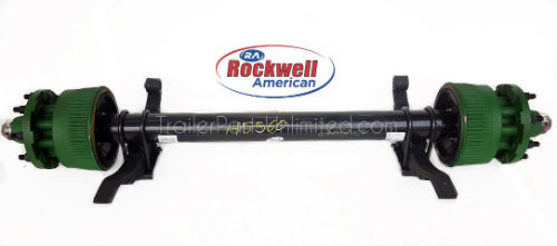 "16,000 lbs Rockwell American 77.5"" HF / 47"" SC Electric Brake Trailer Axle 8 lug on 275mm Springs Attached"