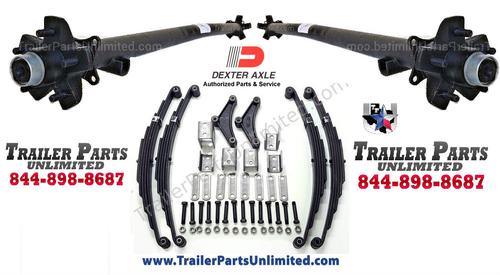 7K Tandem Trailer Axles Idler Set 5 Lug Hubs w/ All Hardware