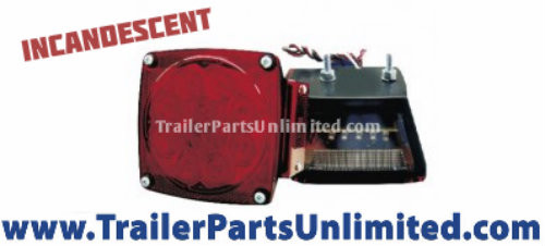 2402L, Incandescent Stop Turn and tail light for trailer with light board.