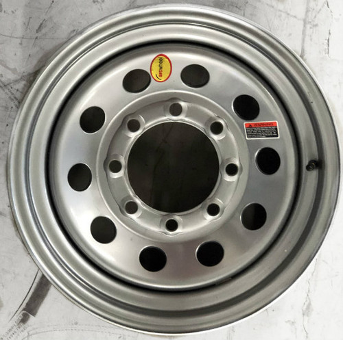 """16"""" x 6"""" Silver Mod Steel Single Wheel 8x6.5"""""""