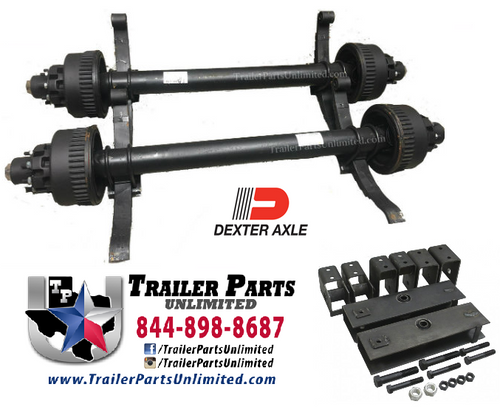 24k Dual Tandem Electric Brake Drum Dexter Trailer Axle Set