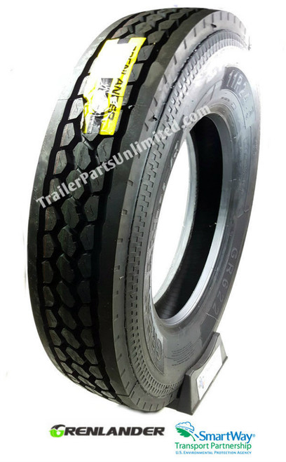 11R22.5 14-Ply Grenlander GR622 Closed Shoulder Drive Tire