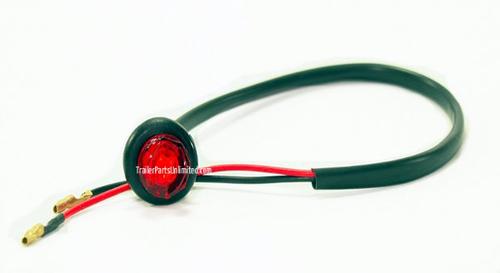 """Mini 3/4"""" Round Red LED Marker Light Grommet Kit"""