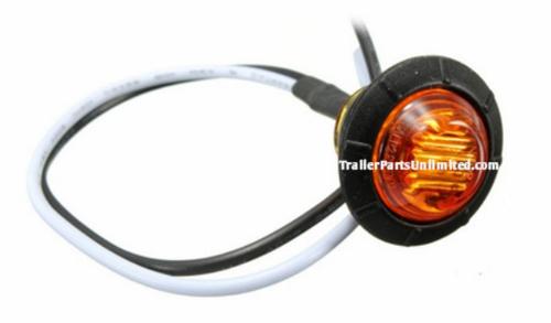 """Mini 3/4"""" Round Amber Led Marker light Grommet kit"""