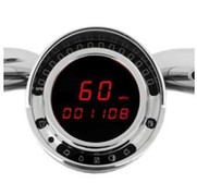 "BIG DOG ""PLUG AND PLAY"" DIGITAL REPLACEMENT SPEEDOMETER - RED"