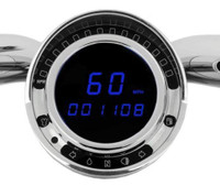 "BIG DOG ""PLUG AND PLAY"" DIGITAL REPLACEMENT SPEEDOMETER - BLUE"