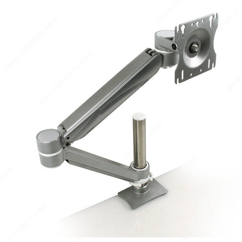 Richelieu Single Arm LCD Flat Panel Desk Mount - Single Screen, Double Extension, Height Adjustable GGF-500781830