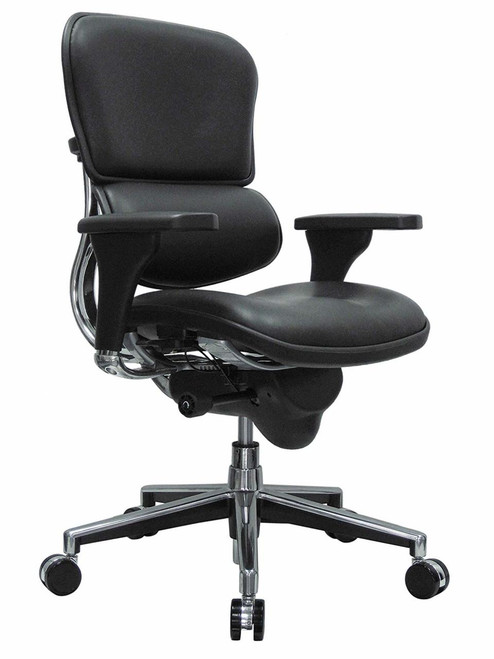 Ergohuman Leather Mid-Back Swivel Chair GGF-LE10ERGLO