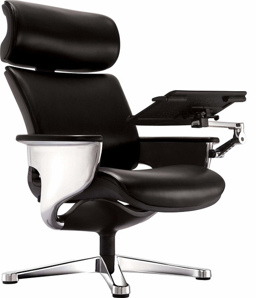 Nuvem Black Leather Office Chair GGF-NUVEMBLK