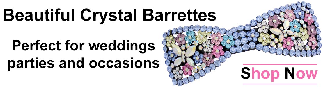 Shop for Beautiful Crystal Hair Barrettes
