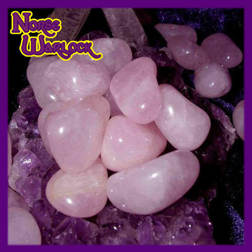 3 Metaphysical Pink Rose Quartz Gemstones