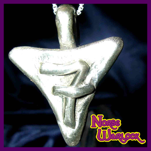 Get Lucky Number 7 Silver Good Money Magnet and Wishing Pendant