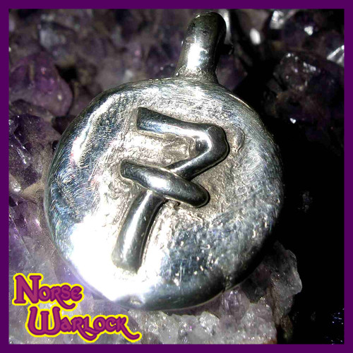 Lucky Number 7 Silver Good Luck Money Magnet and Wishing Pendant