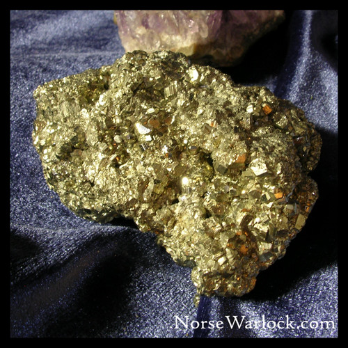 Pyrite Crystal, High-Frequency Energy Enhances Life, Wealth and Power