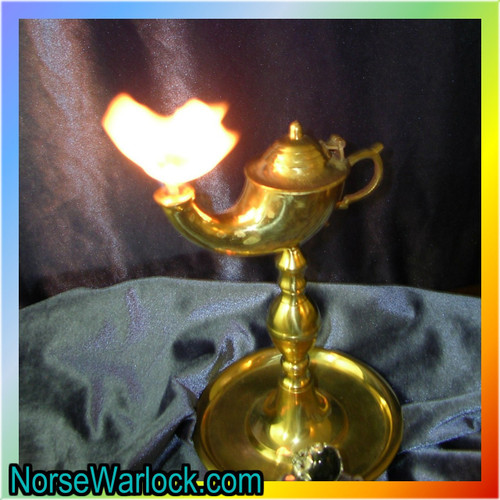 Powerful King Marid Djinn! Brass Oil Genie Lamp and Conjuring Ring!