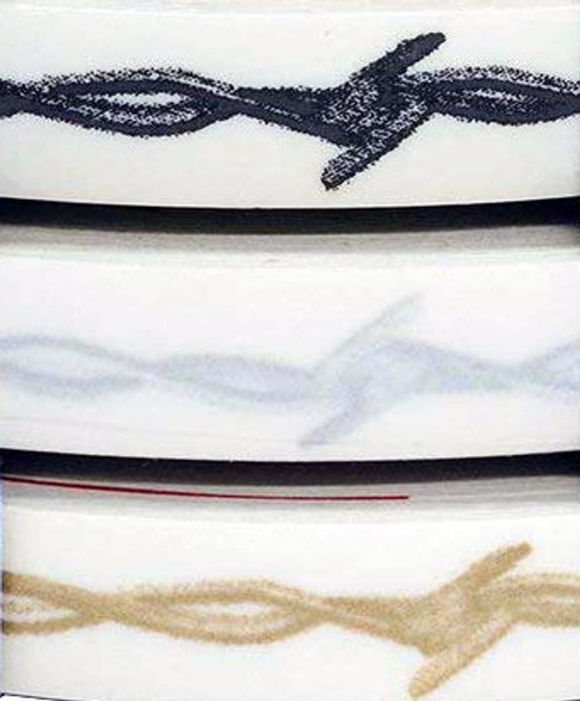 "Barbed Wire 1/2"" Wide Printed Stripe Actual Stripe Close Up"